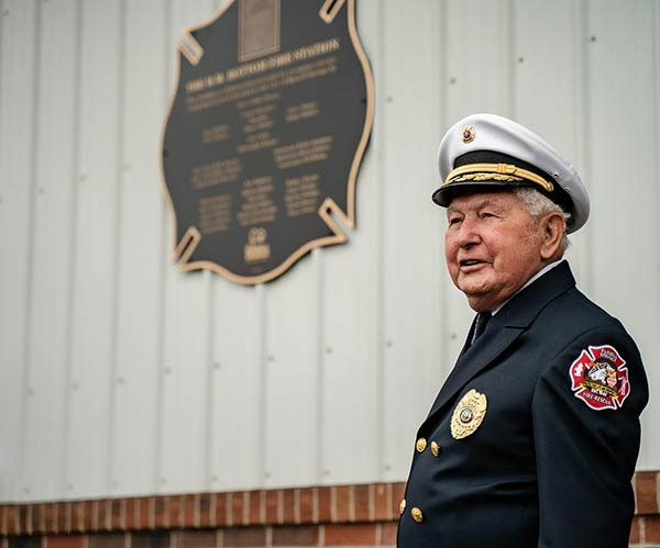 A fire station dedicated in honor of the fire chief